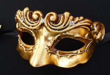 Genuine Venetian 24K Gold Petite Mask